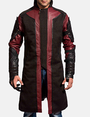 Mens Archer Leather Coat 1