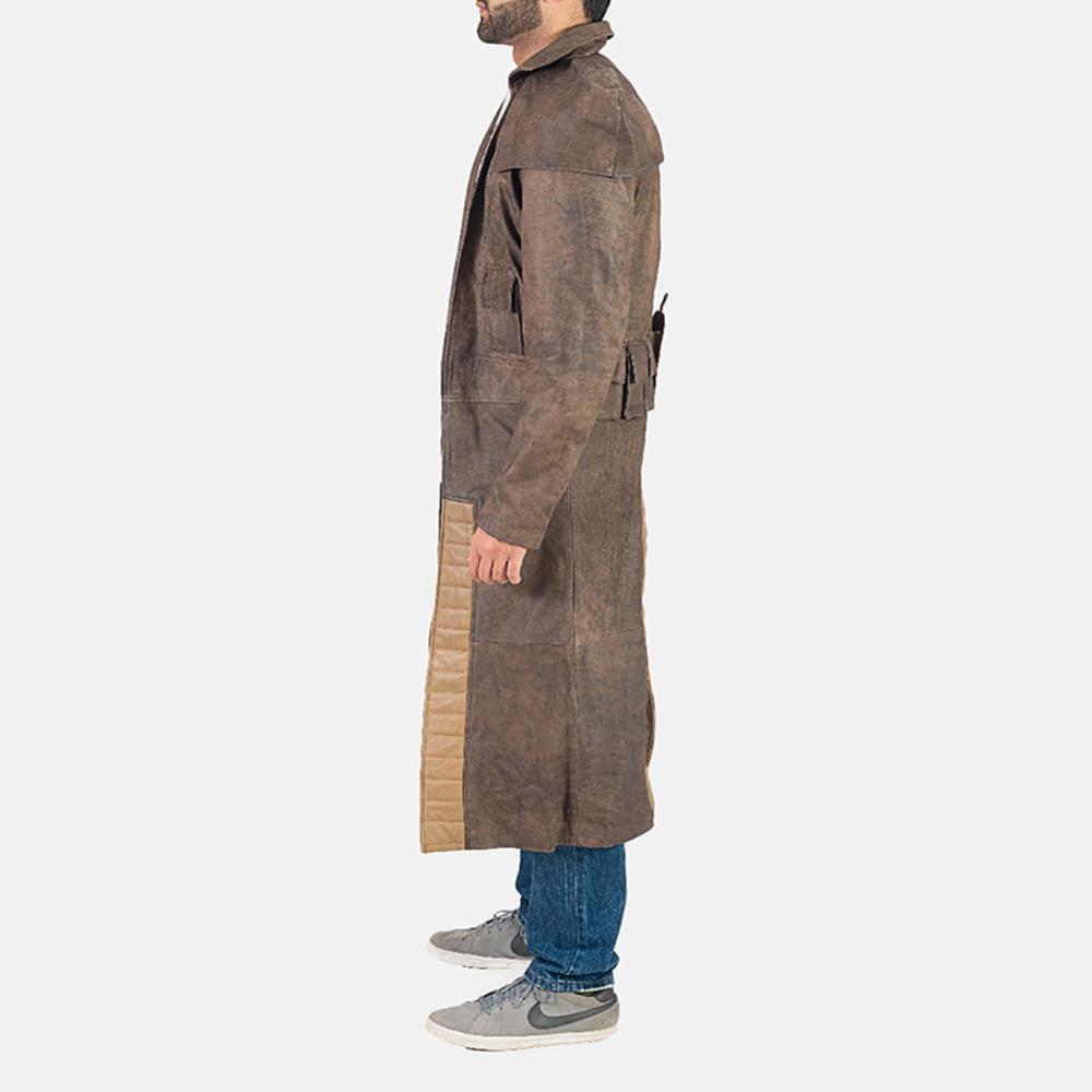 Mens Original Brown Leather Duster 4