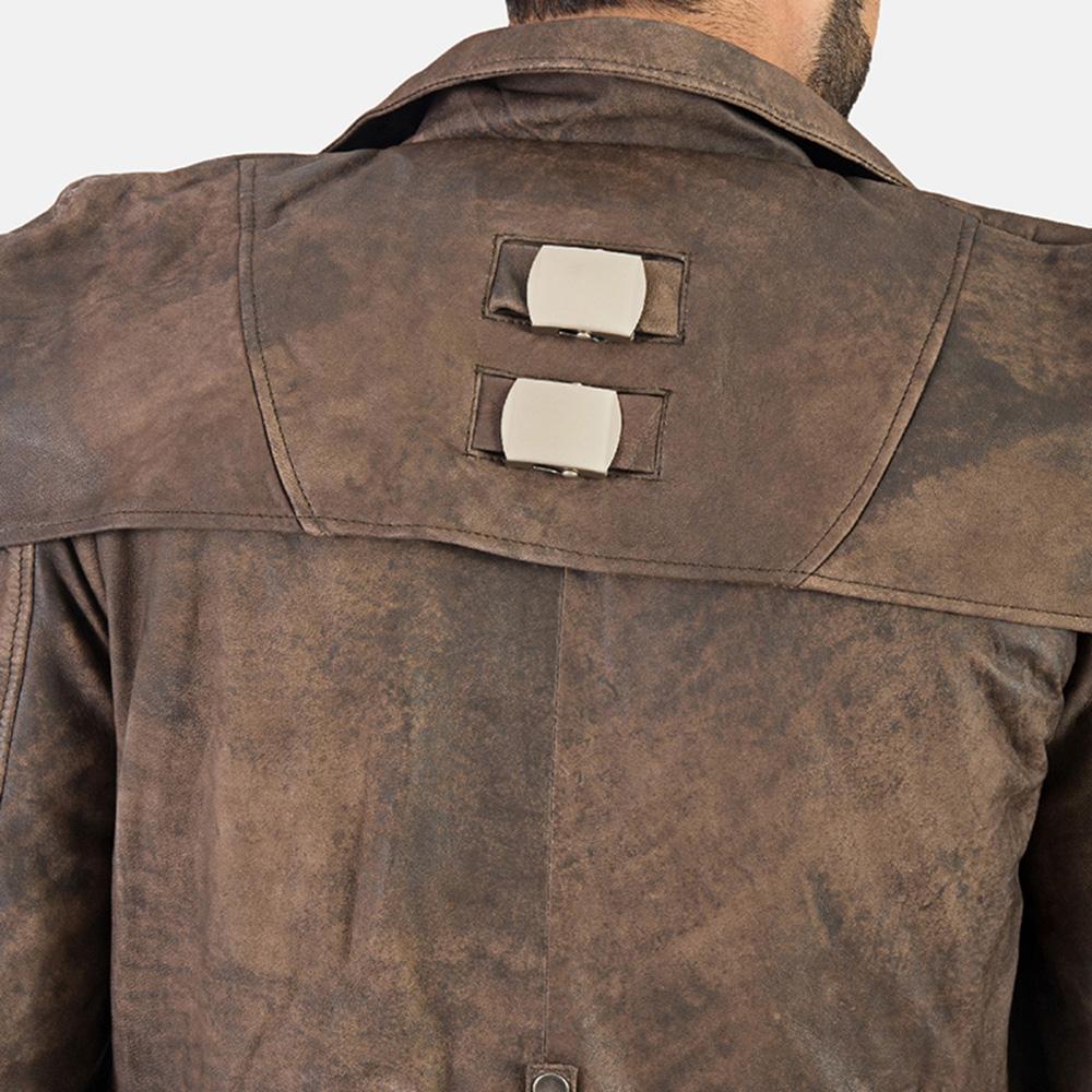 Mens Original Brown Leather Duster 6