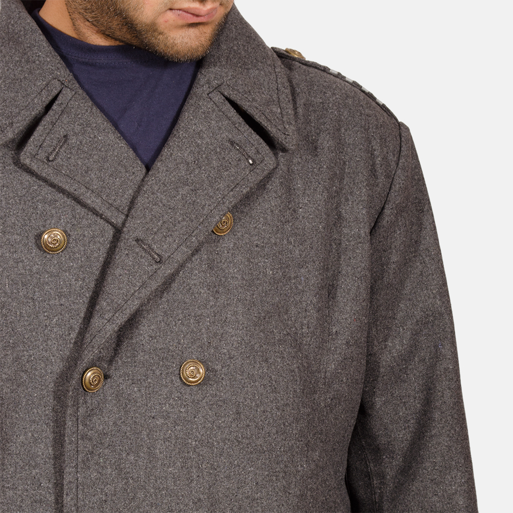 Mens Ashville Wool Peacoat 3