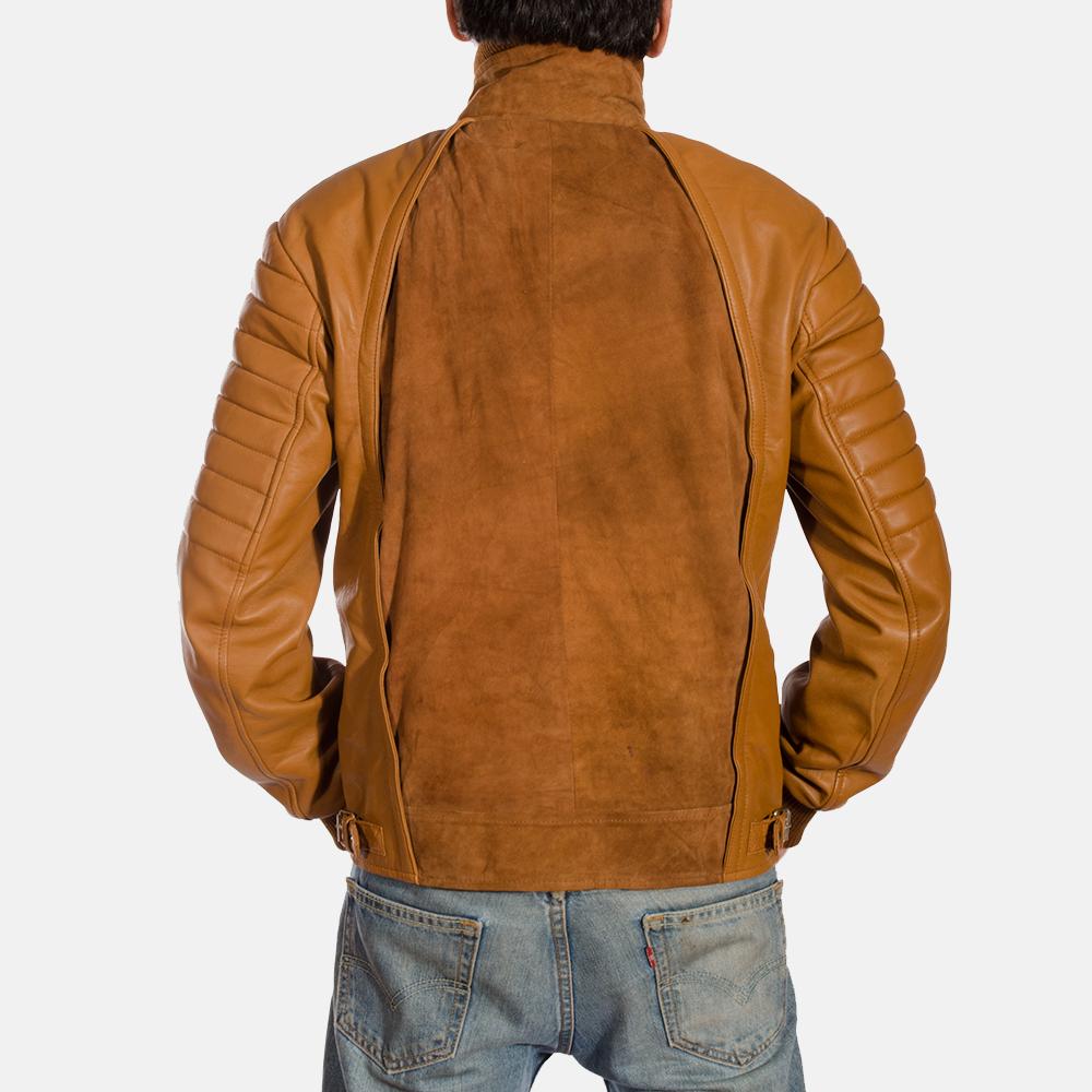 Mens Camelleo Brown Leather Jacket 5