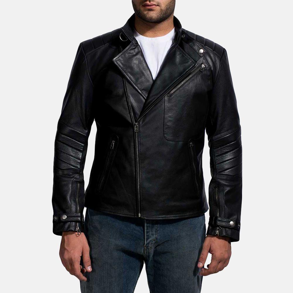 c675a1a0fe126 Mens Raiden Black Leather Biker Jacket 1
