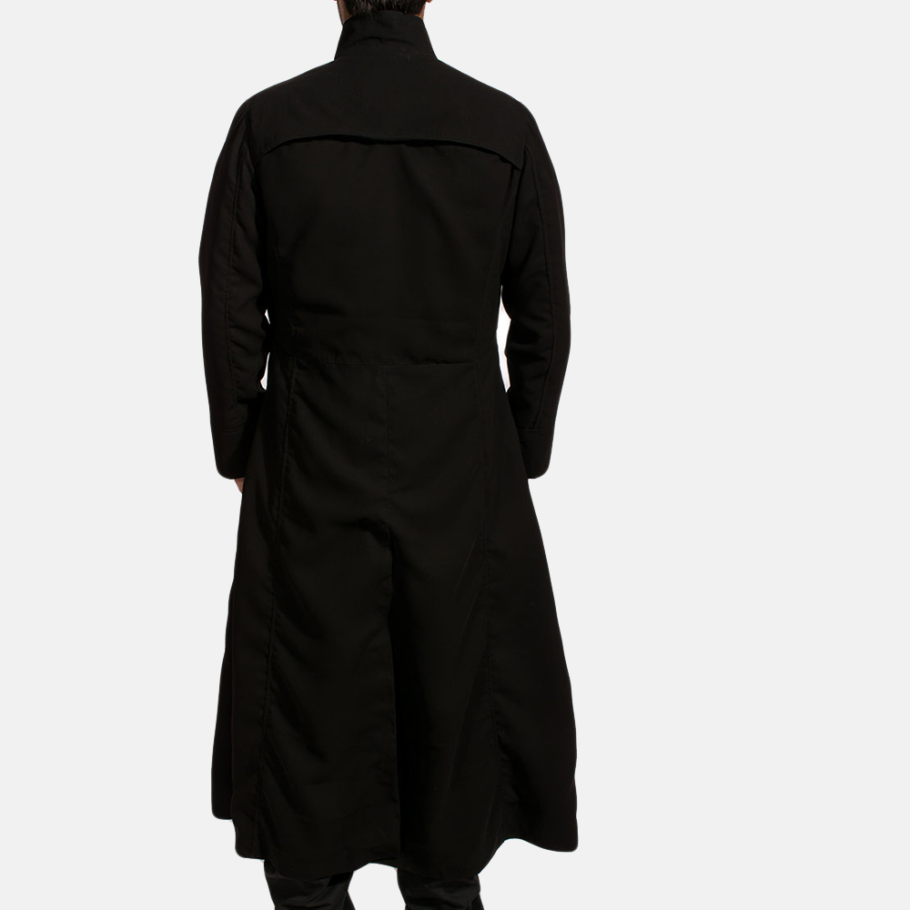 Mens Dane Shadow Black Long Coat 4