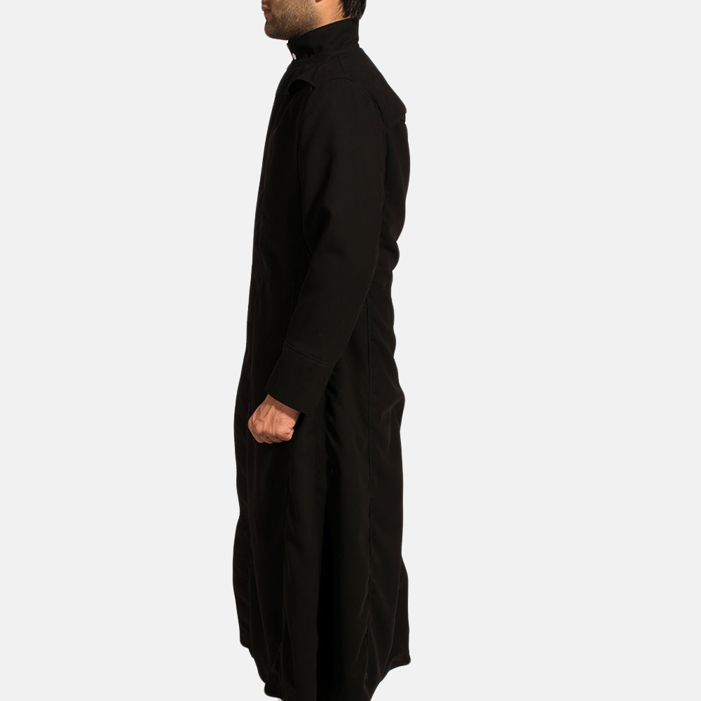 Mens Dane Shadow Black Long Coat 3