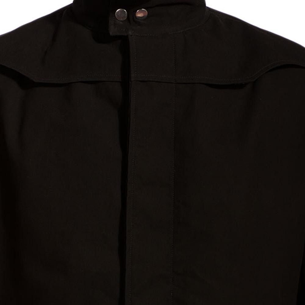 Mens Dane Shadow Black Long Coat 6