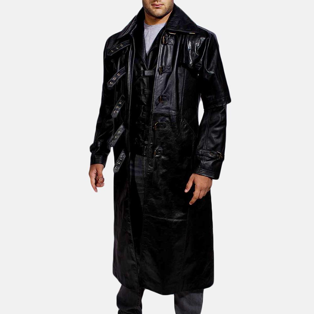 Mens Desperado Black Leather Coat & Vest 2