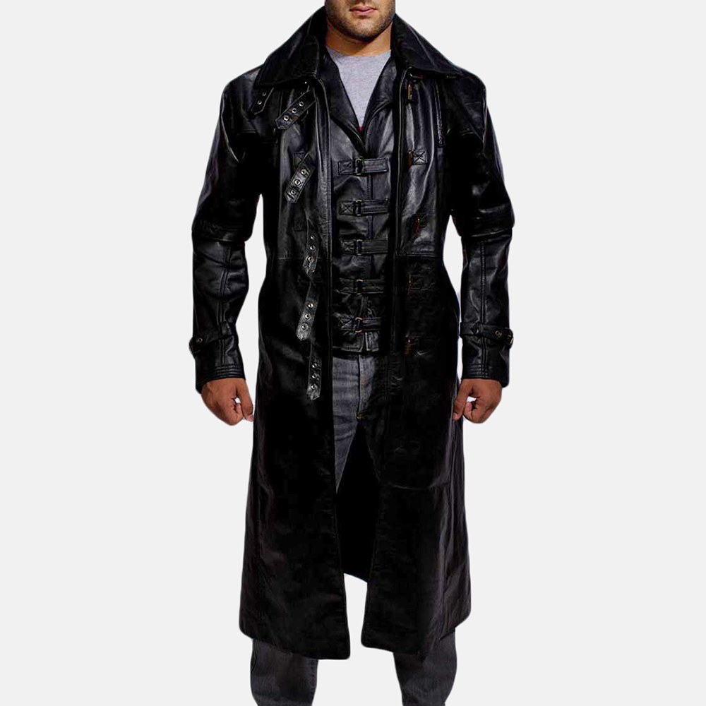 Mens Desperado Black Leather Coat & Vest 1