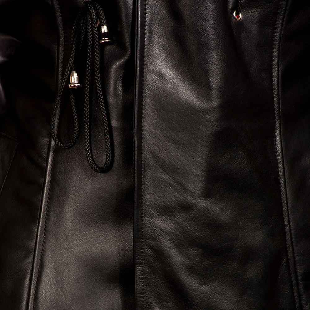 Mens Dracullum Black Leather Coat 4