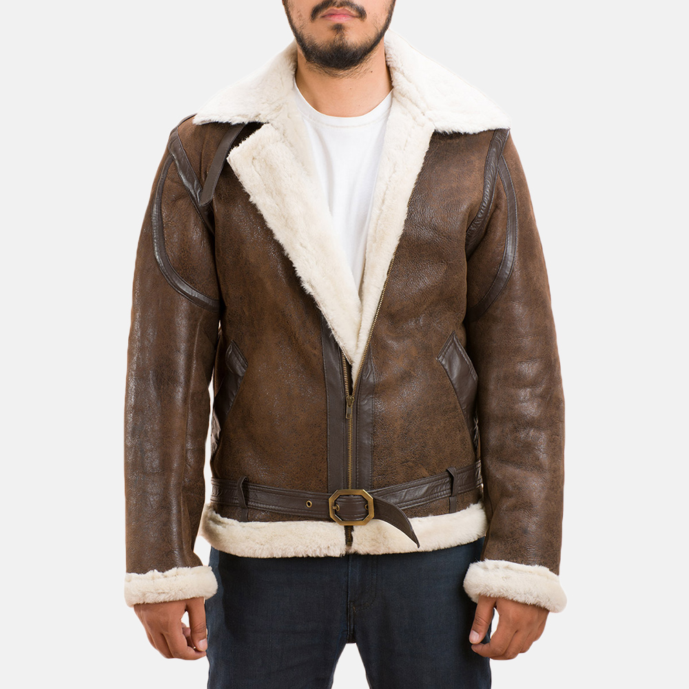 d2b0ea9b63bb Mens Forest Double Face Shearling Jacket 1