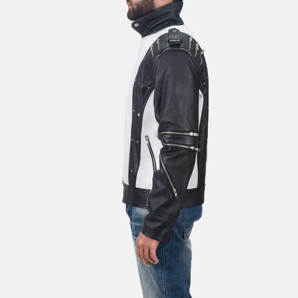 Mens Kravitz Leather Biker Jacket 6