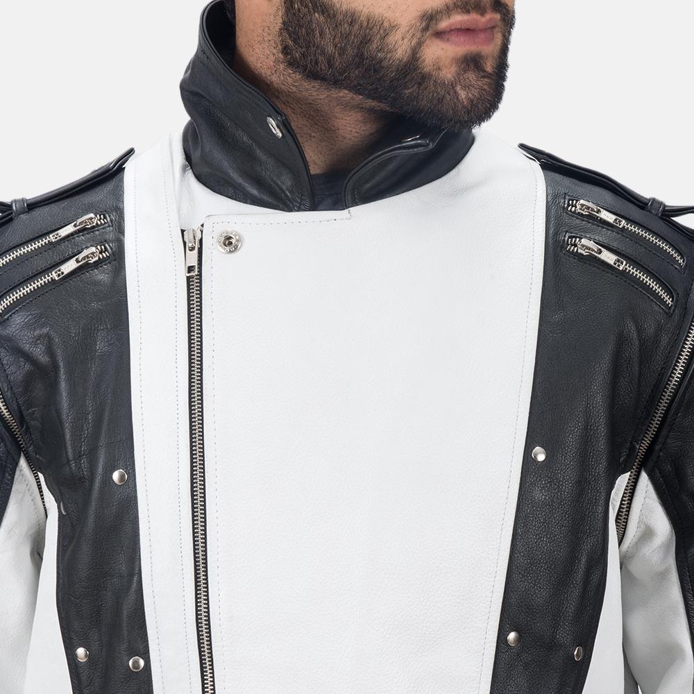 Mens Kravitz Leather Biker Jacket 5