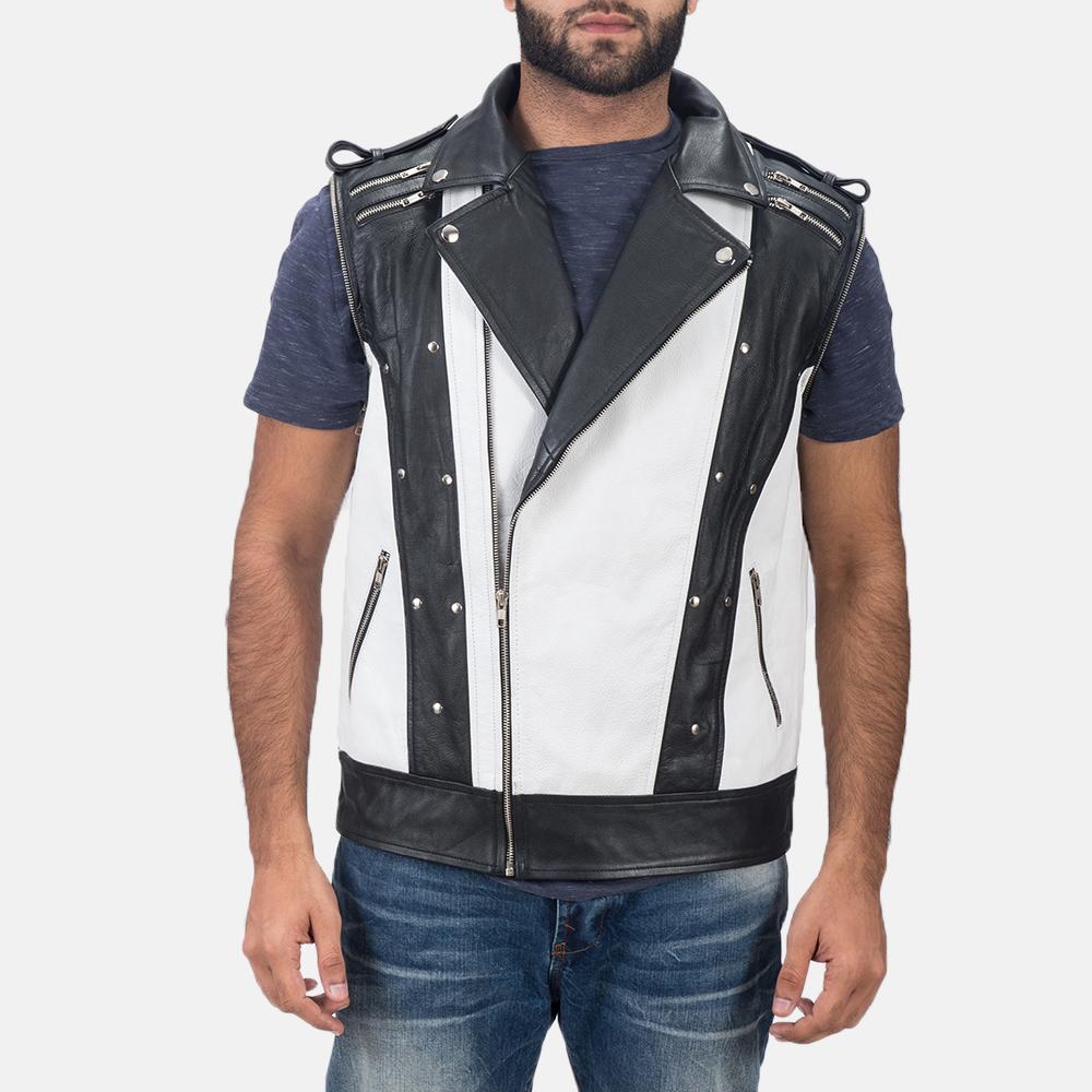 Mens Kravitz Leather Biker Jacket 8