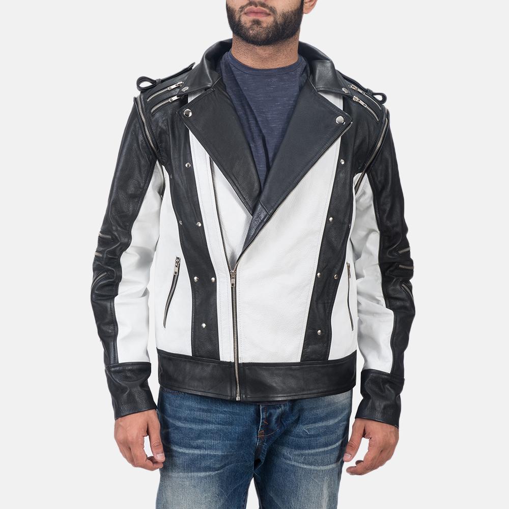 Mens Kravitz Leather Biker Jacket 2