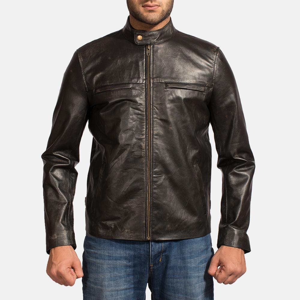 81baa377e Liberty Black Leather Biker Jacket