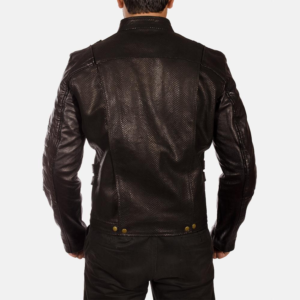 Mens Mars Black Leather Jacket 3