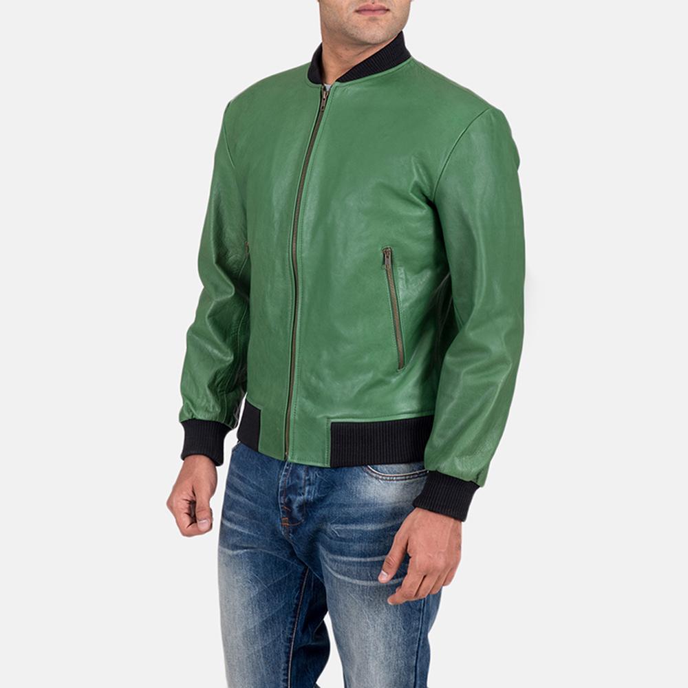 Mens Shane Green Bomber Jacket 3
