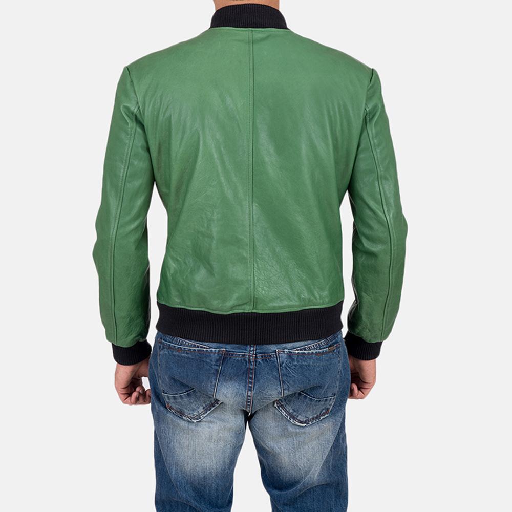 Mens Shane Green Bomber Jacket 6