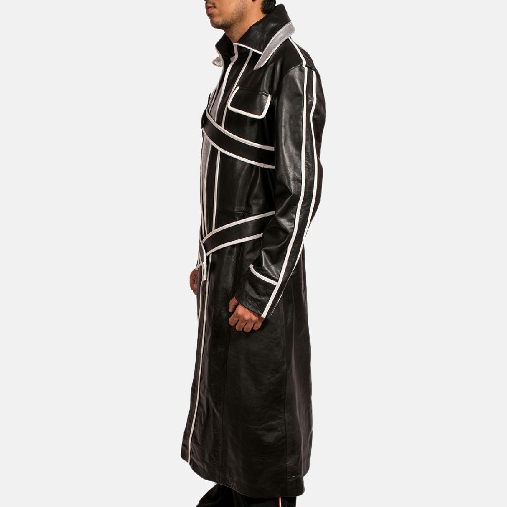 Mens Swordsman Leather Coat 4