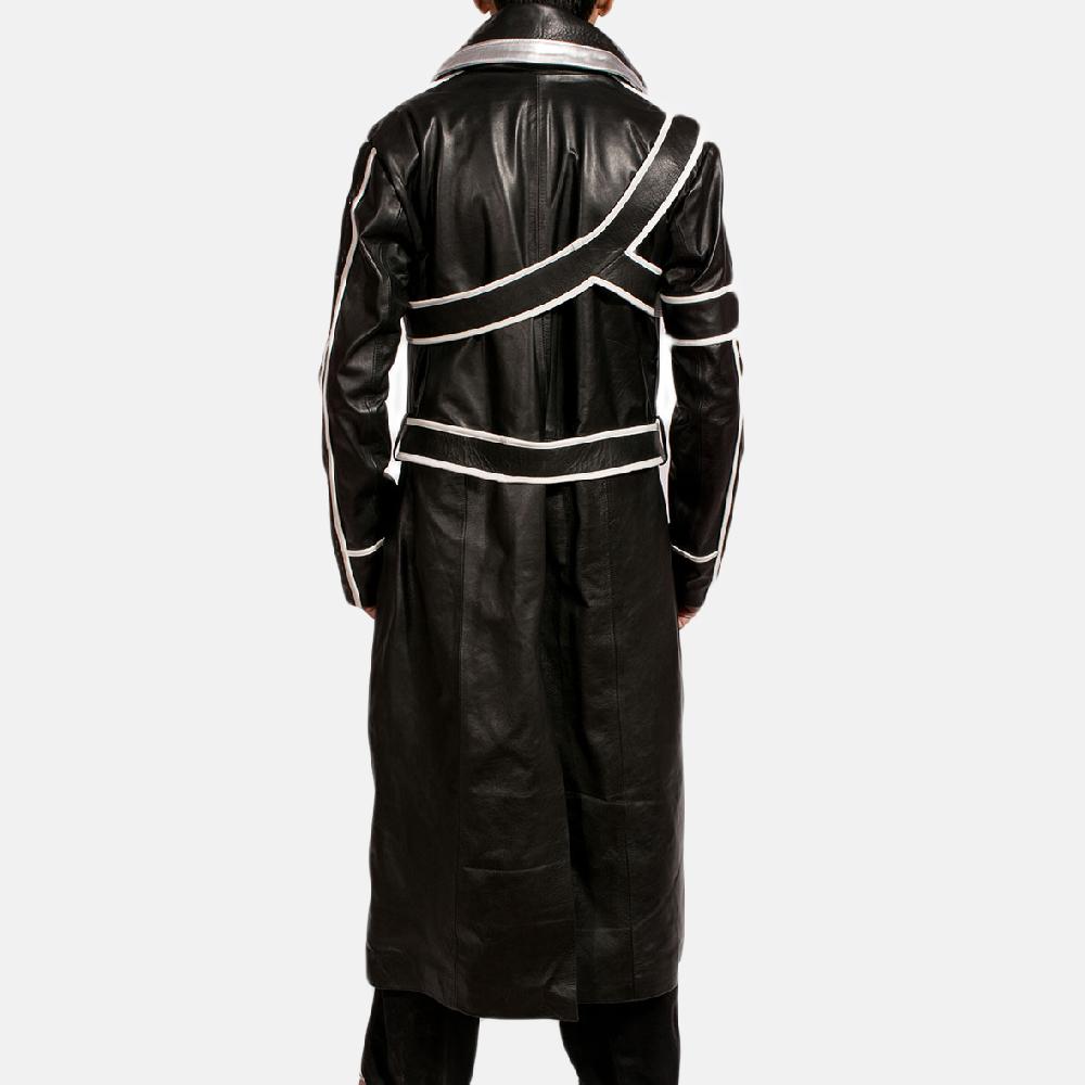 Mens Swordsman Leather Coat 3