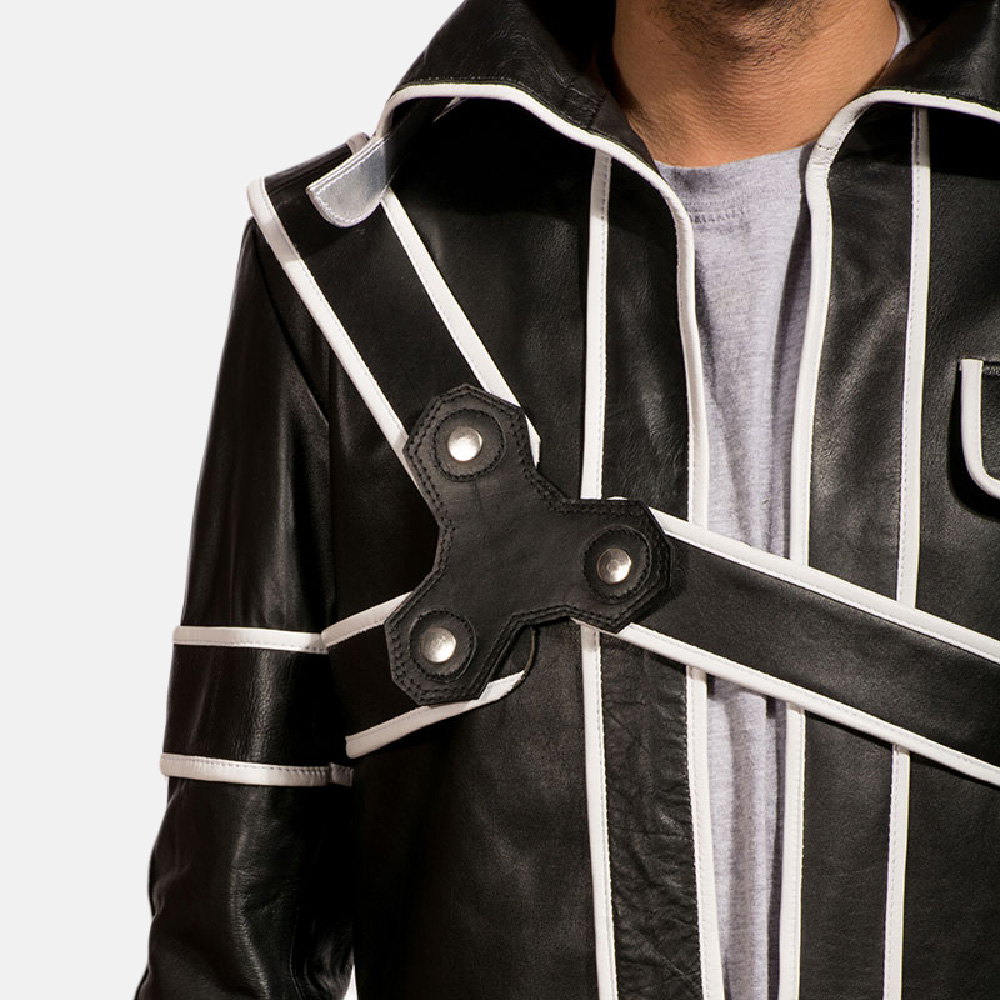 Mens Swordsman Leather Coat 5