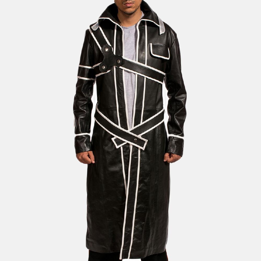 Mens Swordsman Leather Coat 2