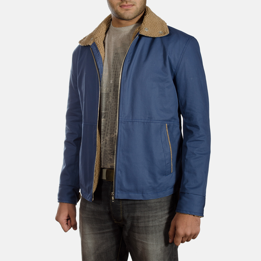 Mens Terry Blue Winter Jacket 2