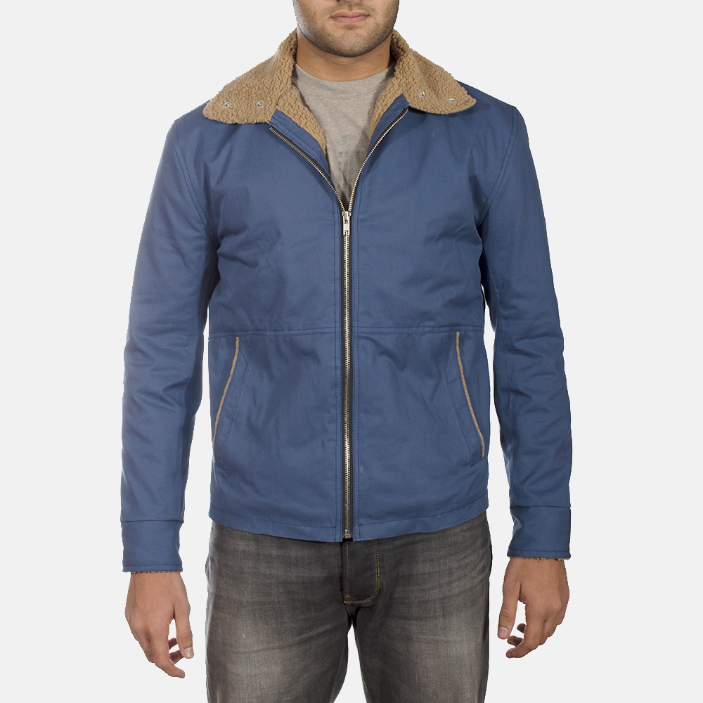 Mens Terry Blue Winter Jacket 1
