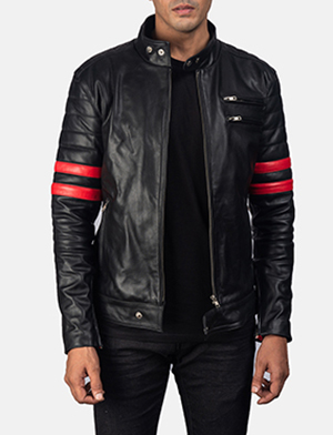 Monza%20black%20%26%20red%20leather%20biker%20jacket category 1531304466722