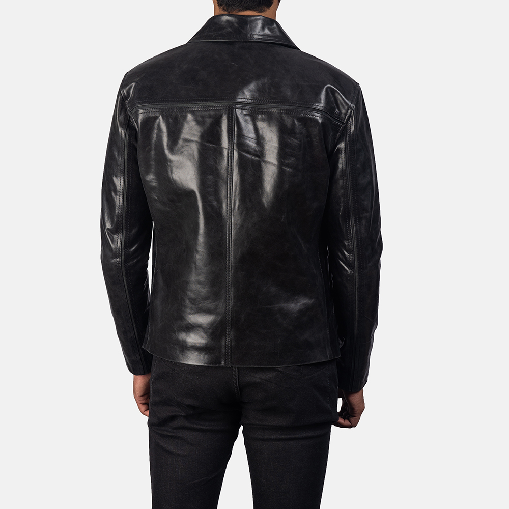 Mens Mystical Black Leather Jacket 4