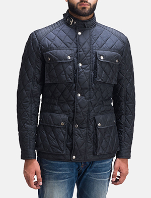Mens Nelson Quilted Windbreaker Jacket