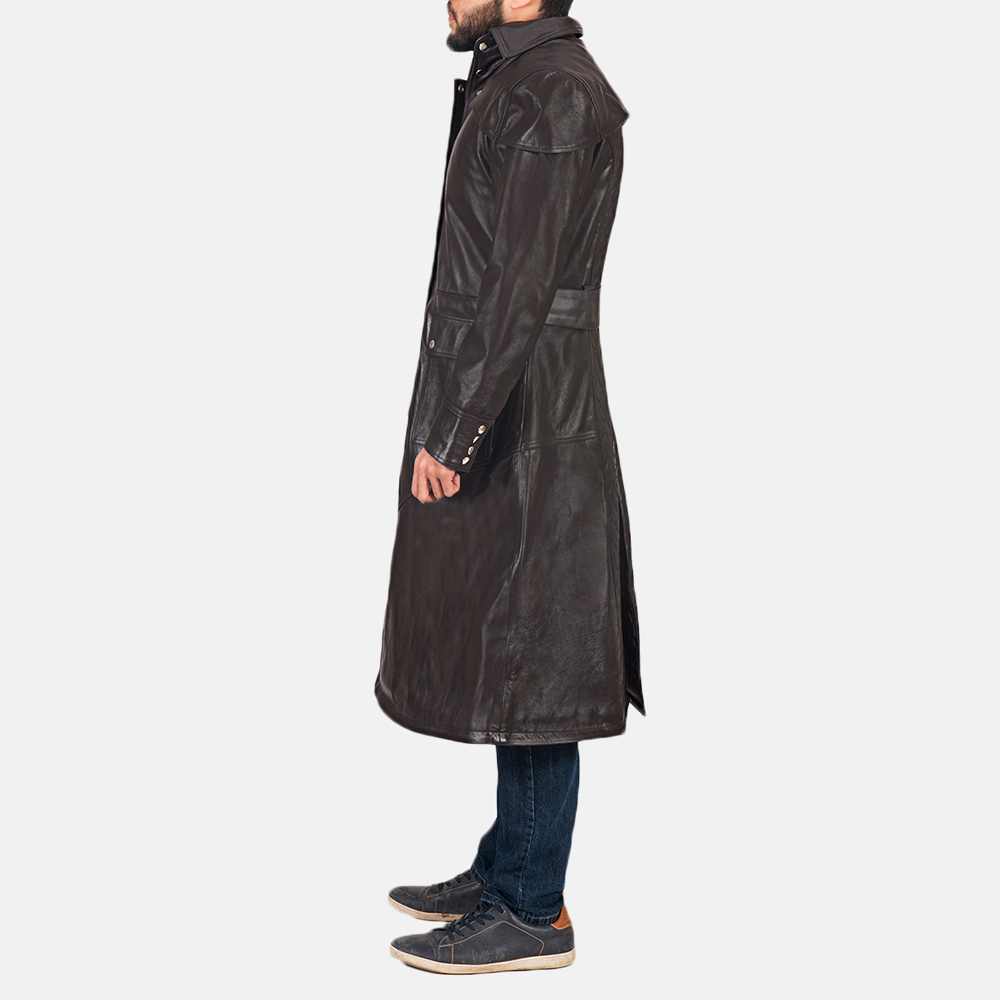 Men's Alexander Brown Leather Duster 5