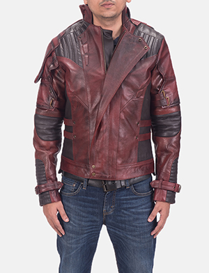 Mens Mars Maroon 2 Leather Jacket