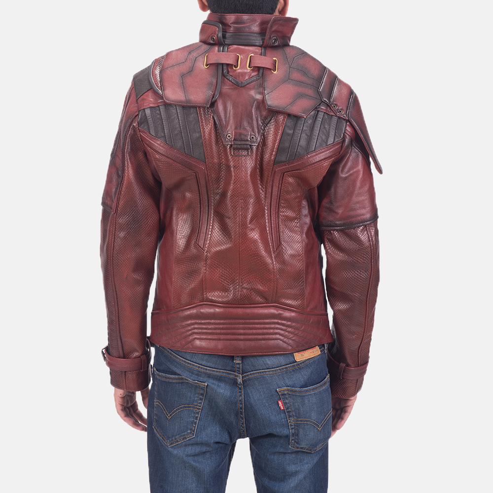 Mens Mars Maroon 2 Leather Jacket 4