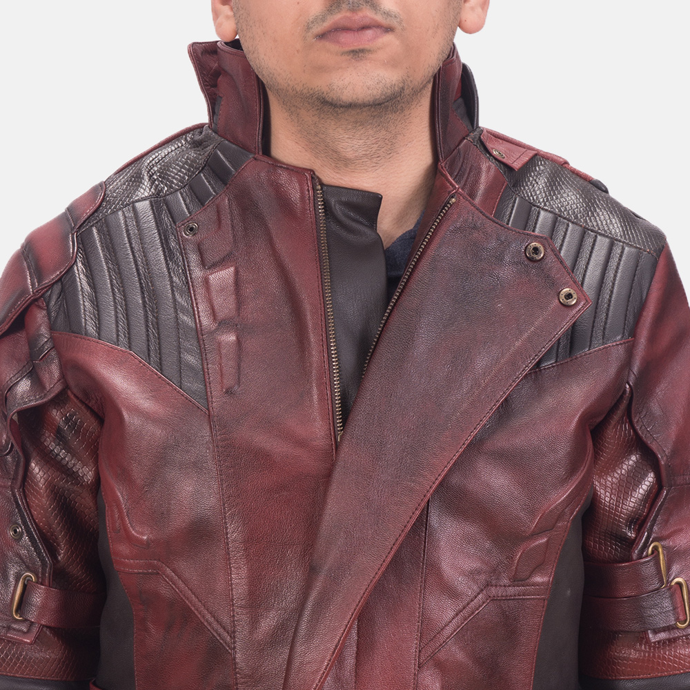 Mens Mars Maroon 2 Leather Jacket 6