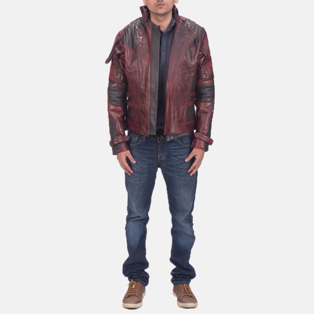 Mens Mars Maroon 2 Leather Jacket 2