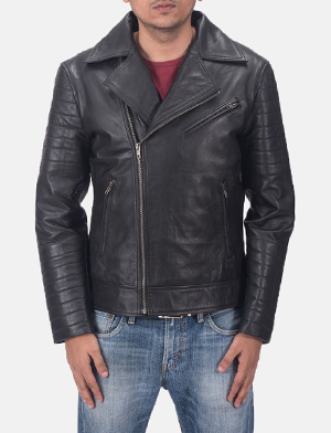 Luther Black Leather Biker Jacket