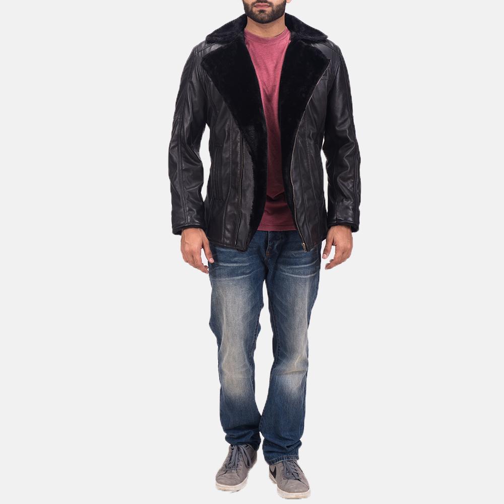 Men's Ambrose Black Leather Jacket 2