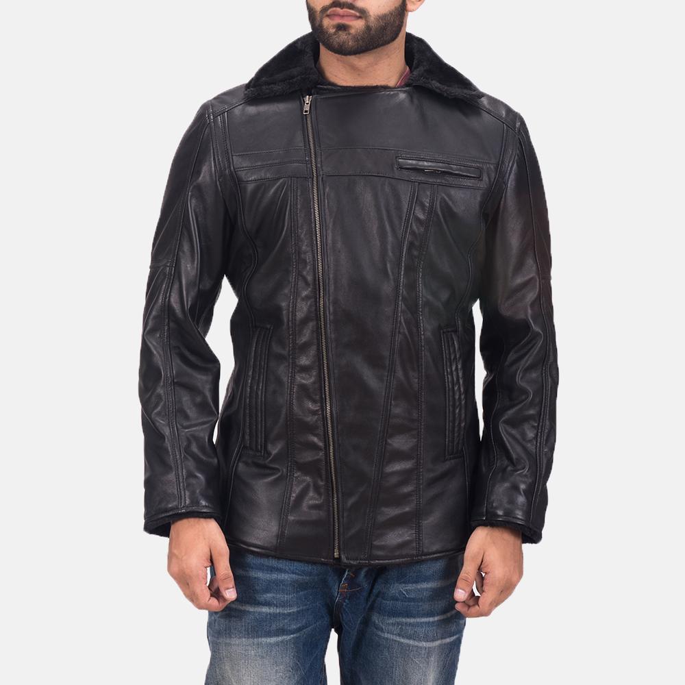Men's Ambrose Black Leather Jacket 7