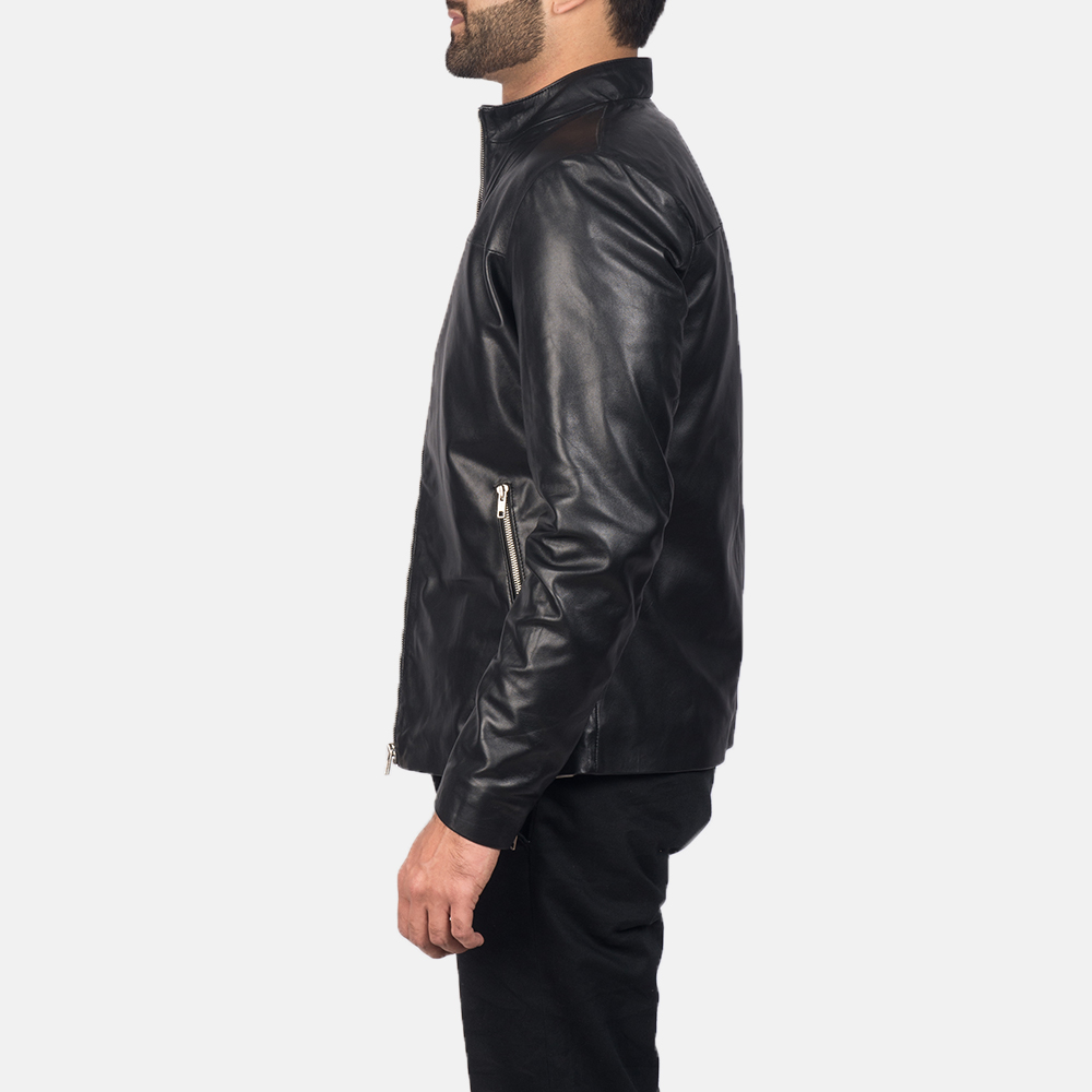 Mens Adornica Black Leather Jacket 3