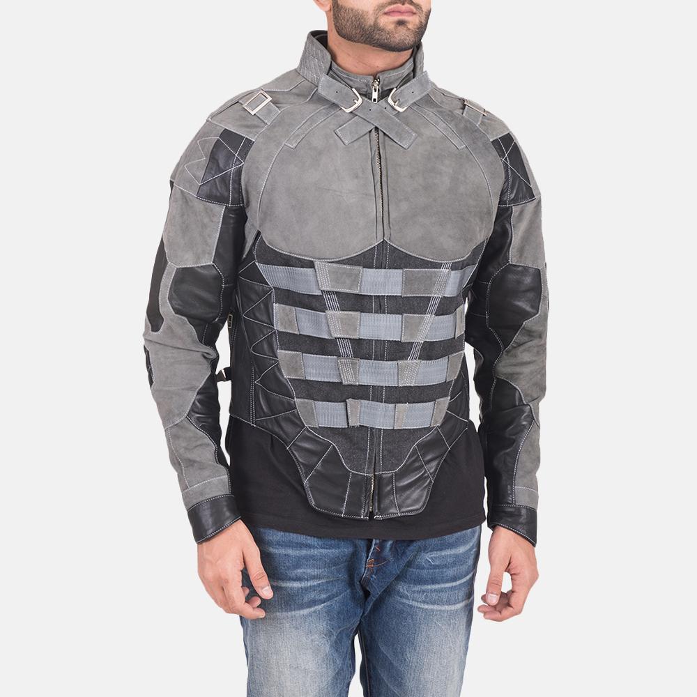 Militia Grey Leather Jacket 1