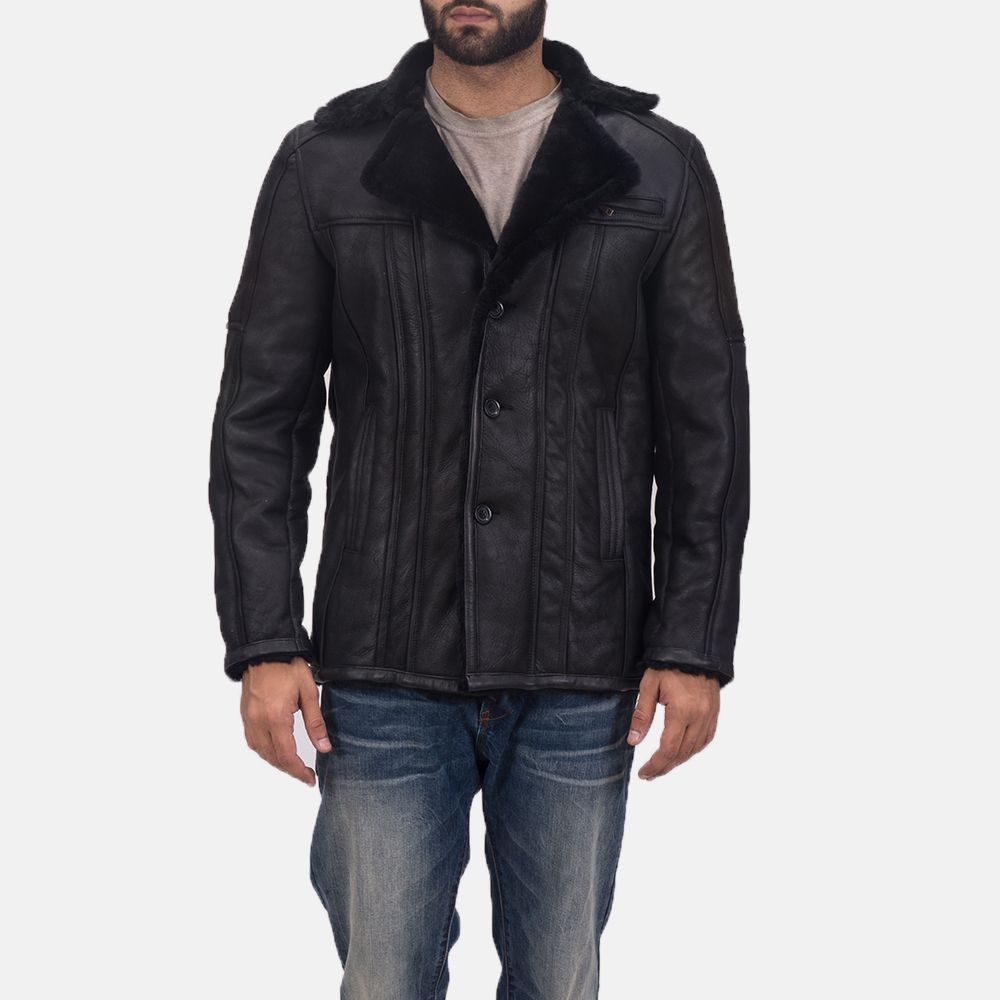Men's Furcliff Double Face Shearling Leather Coat 1