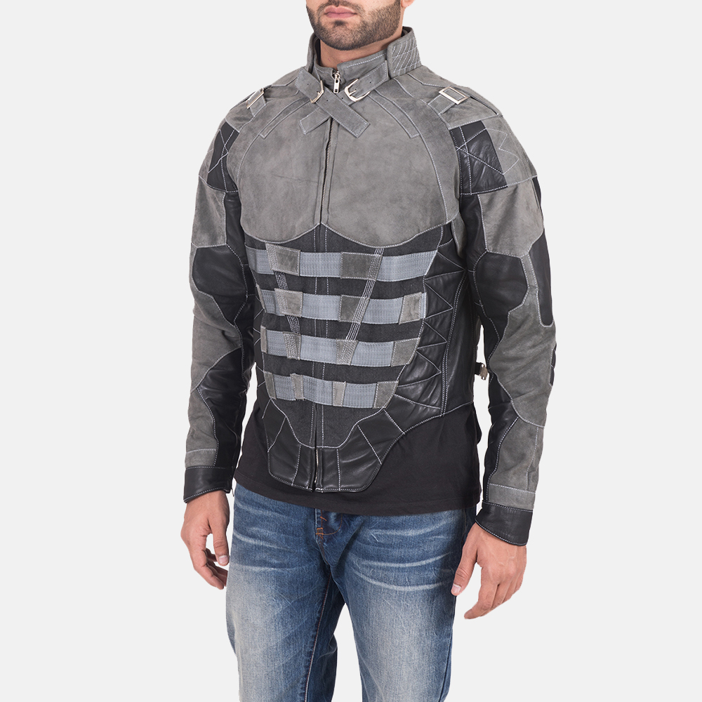 Militia Grey Leather Jacket 3