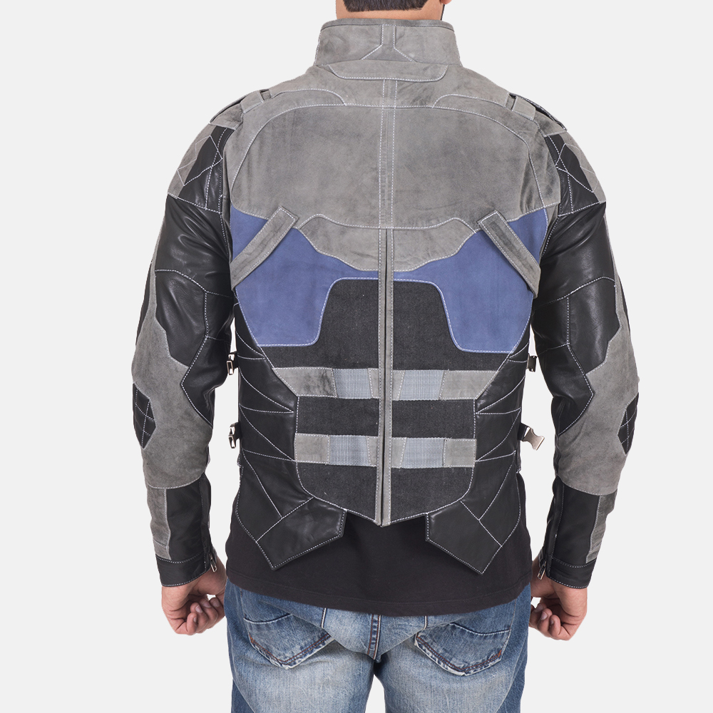 Militia Grey Leather Jacket 5