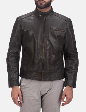 Sonny Brown Leather Biker Jacket