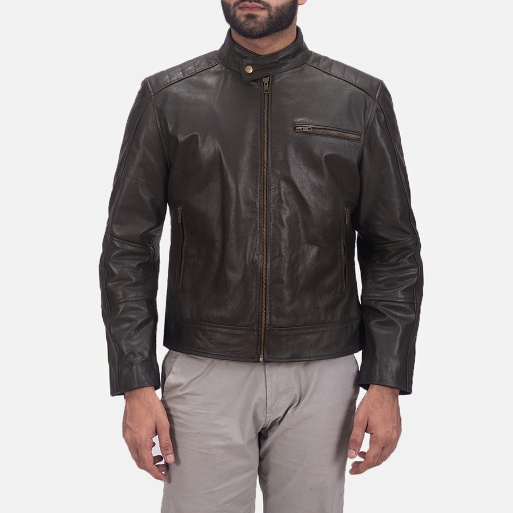 Sonny Brown Leather Biker Jacket 1