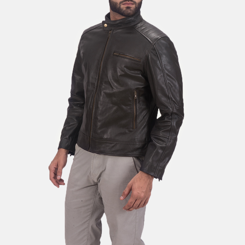 Sonny Brown Leather Biker Jacket 3