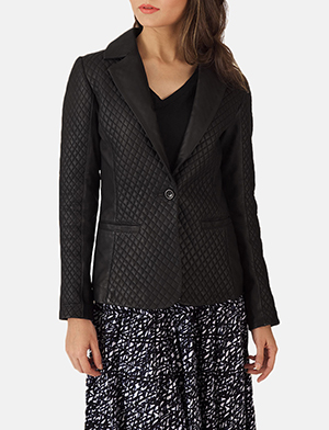 Quilted black blazer zoom extra 2 a 1491411310527