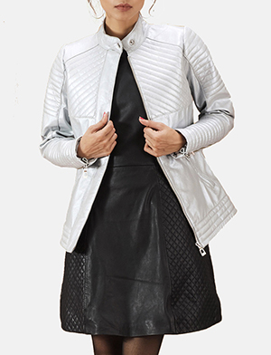 Silver quilted jacket zoom 2 a 1491411610178