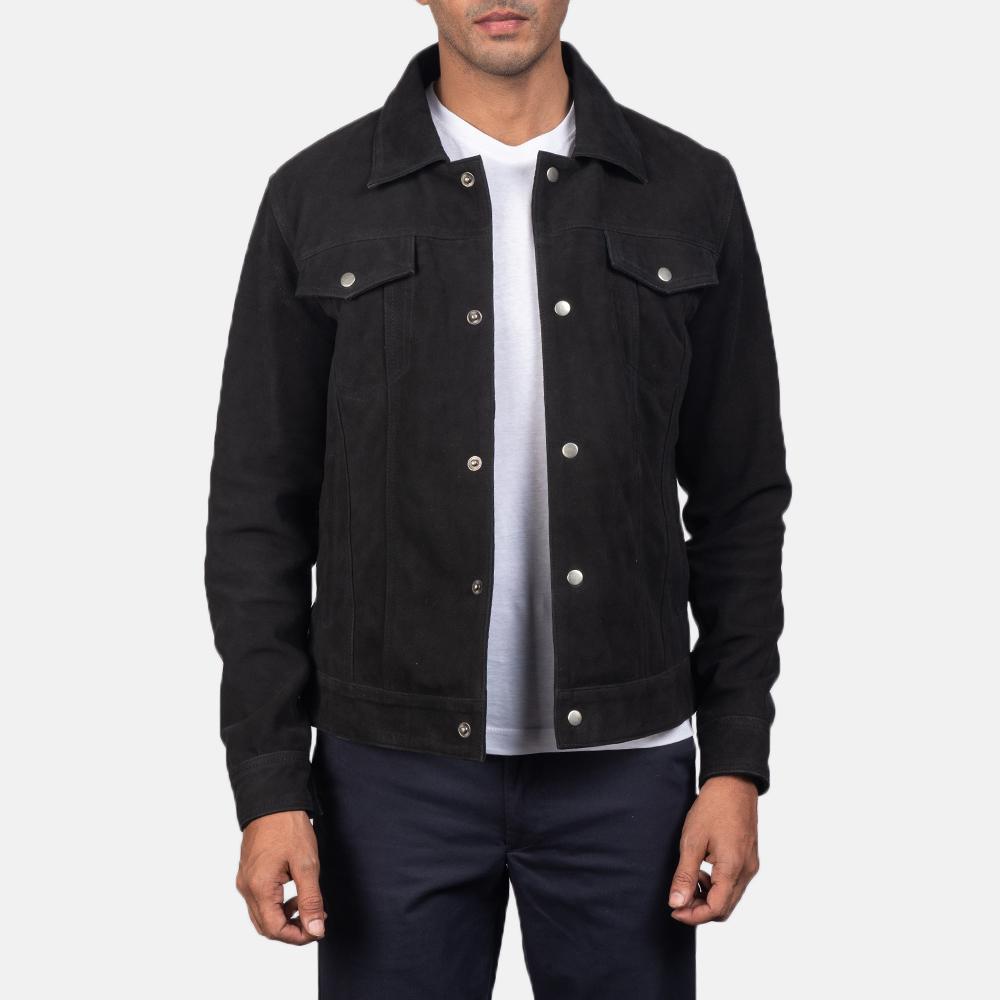 Men's Stallon Black Suede Jacket 2