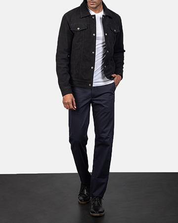 Men's Stallon Black Suede Jacket 1